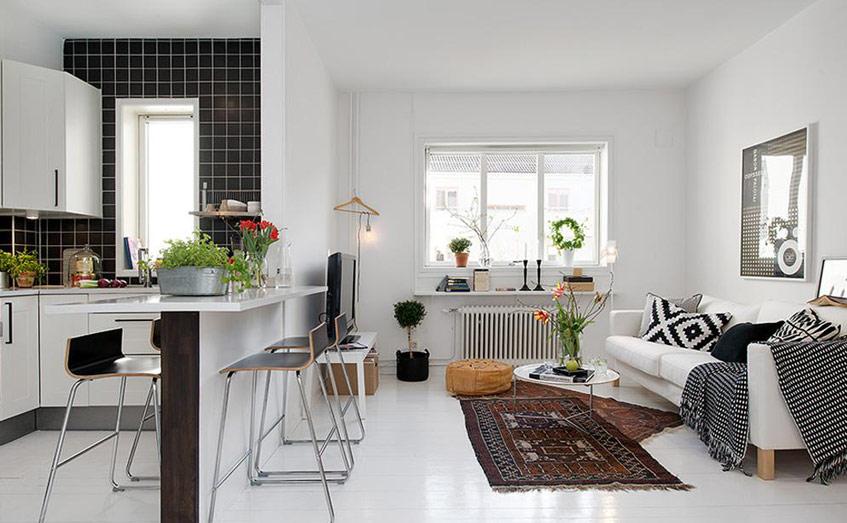 thiết kế nội thất phòng khách theo phong cách Bắc Âu, đơn giản, tinh tế và hiện đại là lựa chọn thích hợp nhất cho không gian này.