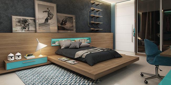 Những bạn nhỏ cá tính mạnh, thích sự gọn gàng và hiện đại, yêu thể thao sẽ chẳng bỏ qua cách thiết kế căn phòng ngủ như trên.