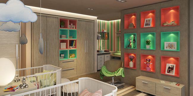 Căn phòng dành cho trẻ sinh đôi.