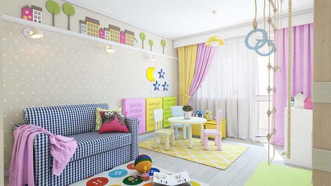 Căn phòng dành cho những cô bé thích chơi trò nấu ăn, gia đình cùng búp bê