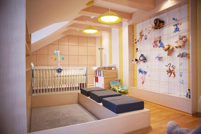 Căn phòng dành cho những cậu bé, cô bé thích đồ chơi bằng bông và trò xúc cát.