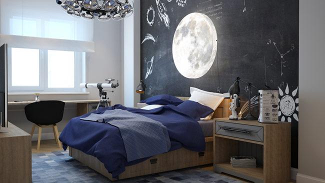 Căn phòng dành cho những cậu bé, cô bé yêu thiên văn học.