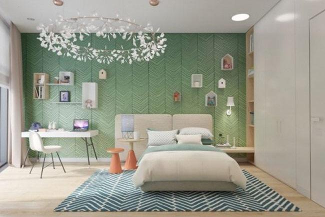 Căn phòng dành cho bé trai yêu thích sự đơn giản và sạch sẽ, ngăn nắp.