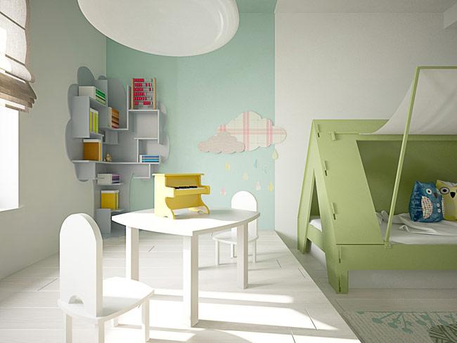 Căn phòng của một cậu bé, cô bé yêu âm nhạc và hay mơ mộng.