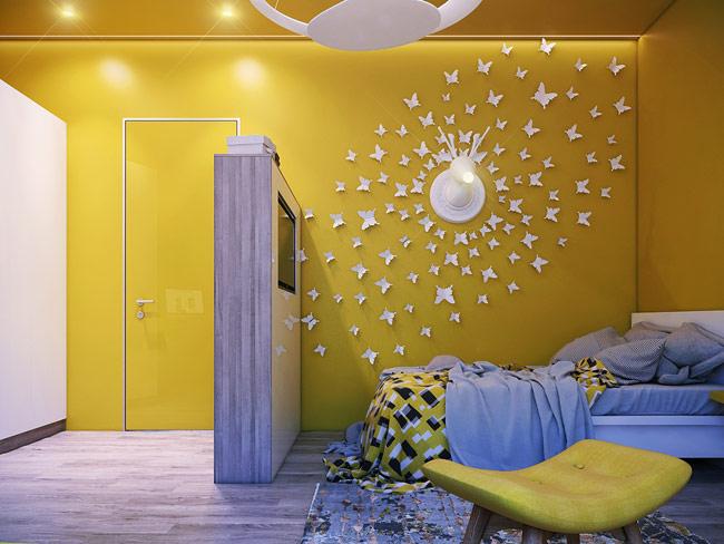 Căn phòng dành cho bé gái yêu thiên nhiên và những chiếc đèn mang sức tưởng tượng.