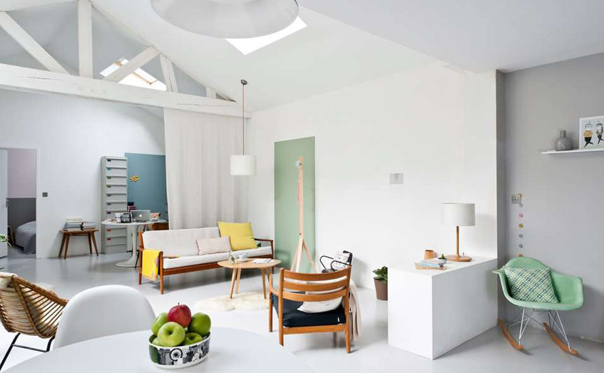 Gam màu sáng giúp căn nhà mát mẻ