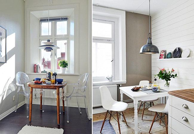Những chiếc bàn đơn là món đồ nội thất đặc biệt thích hợp với một không gian nhà bếp không mấy rộng rãi
