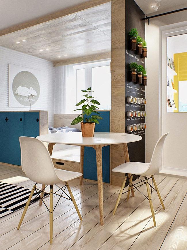 Những chiếc bàn tròn cũng đem lại cảm giác ấm cúng hơn mỗi khi cả gia đình quây quần hơn so với những chiếc bàn vuông, chữ nhật góc cạnh