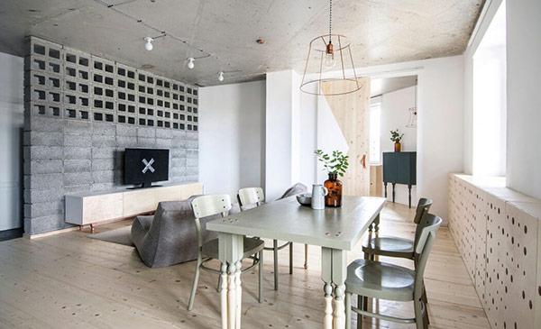 thiết kế nội thất nhà ở nói chung và nhà chung cư nói riêng, vật liệu đá đang được ứng dụng phổ biến bởi sự bền bỉ với thời gian, không bị phai màu qua năm tháng