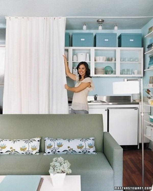 Rèm phân cách bếp và phòng khách