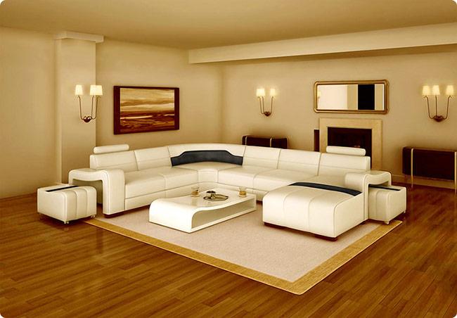 Phòng khách bạn nên chọn sàn gỗ có tone màu tươi sáng sẽ giúp tạo điểm nhấn cho không gian.