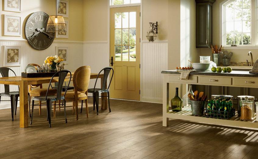 Sàn gỗ cho phòng bếp