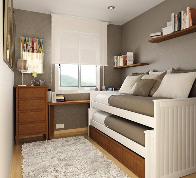 Giường tầng là lựa chọn lý tưởng cho phòng ngủ của trẻ em. Loại giường này nhỏ gọn, dễ gấp và đặc biệt tạo không gian rộng cho phòng ngủ.