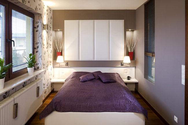Một bức tường, trần nhà, một chiếc rèm, một bức tranh hay thậm chí một chiếc thảm đặt dưới sàn có gam màu tươi sáng sẽ có tác dụng thắp sáng gian phòng ngủ nhà bạn