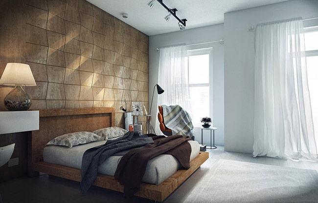 Gạch lát và vải vóc là những vật liệu phổ biến để tạo nên những tác phẩm trang trí độc đáo. Để có những tác phẩm cầu kì hơn bạn có thể pha trộn nhiều yếu tố trang trí hay tạo nên những bức tường 3D hiện đại