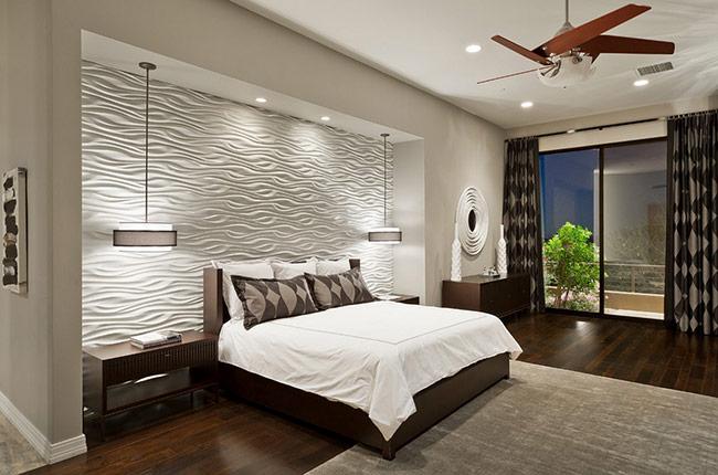 Khi nói đến trang trí không gian phòng ngủ thì những bức tường phía sau giường ngủ thường xuyên được chú ý tới.