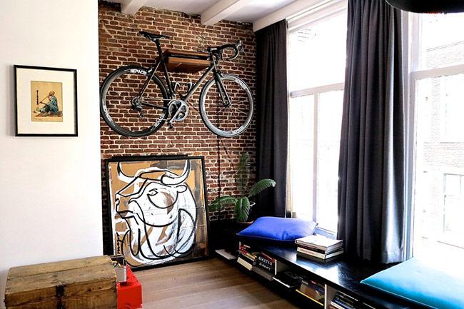 Nếu việc di chuyển hàng ngày của bạn sử dụng xe đạp thường xuyên, bạn có thể chọn lựa, bố trí một vị trí phù hợp để treo xe đạp.