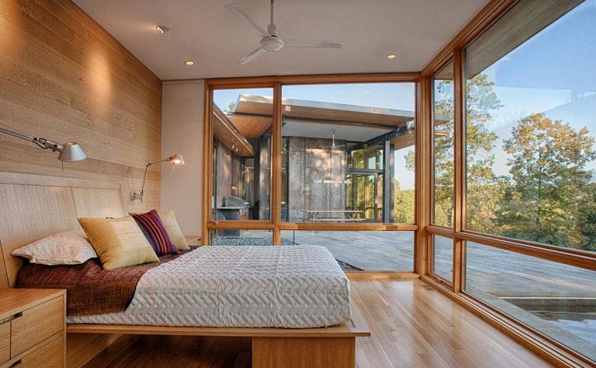 Kiểu thiết kế tường kính này cũng không hề kén chọn phong cách nội thất bạn theo đuổi.