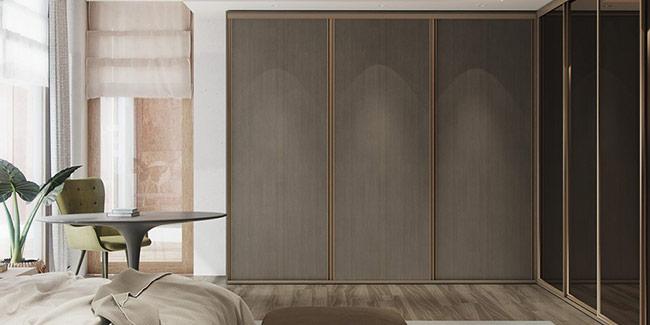 Phòng ngủ với màu sắc nhẹ nhàng, trung tính