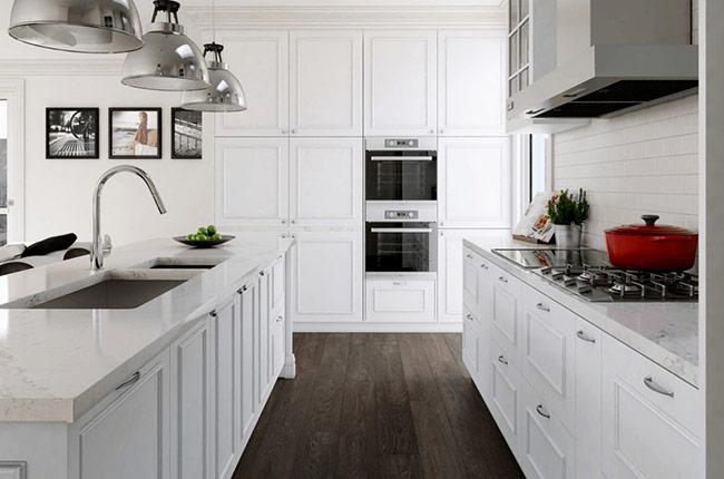 Có hai màu sắc luôn được kết hợp với nhau, bất kể xu hướng có thay đổi như thế nào, bất kể chủ đề màu sắc của năm có thay đổi như thế nào, đen và trắng vẫn luôn là sự kết hợp hoàn hảo nhất. Và tất nhiên, một sàn gỗ màu đen kết hợp với nội thất màu trắng sẽ là lựa chọn lý tưởng cho phong cách này.