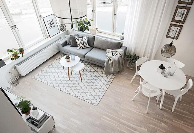 Cách bố trí với nội thất đơn giản mang đến nét đẹp thanh lịch cho không gian.