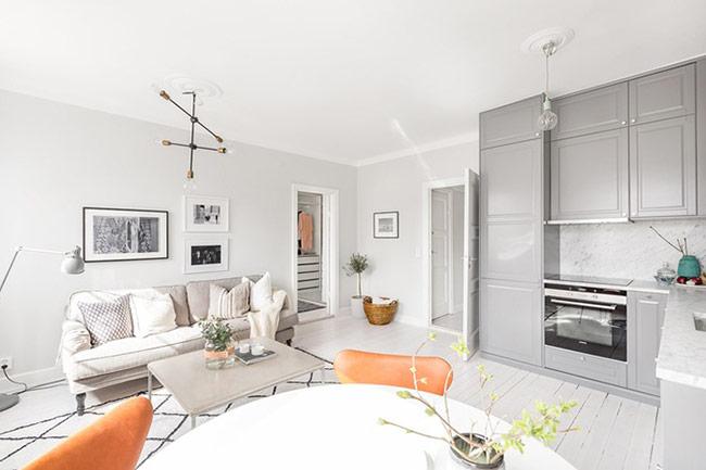 Không gian sống vẫn rộng thoáng nhờ cách chọn lựa nội thất phù hợp với kích thước.