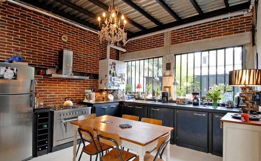 Không gian bếp theo hướng cổ điển