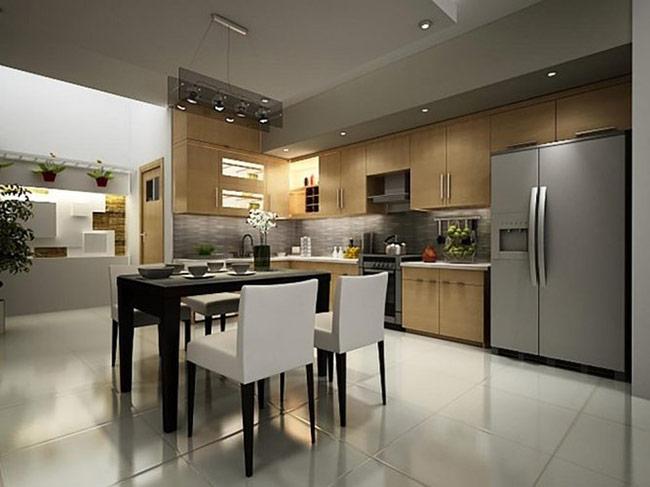 Thiết kế gian bếp theo không gian mở