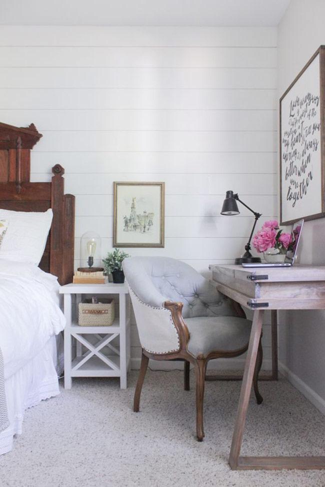 Phòng ngủ kết hợp góc làm việc đẹp và hiện đại