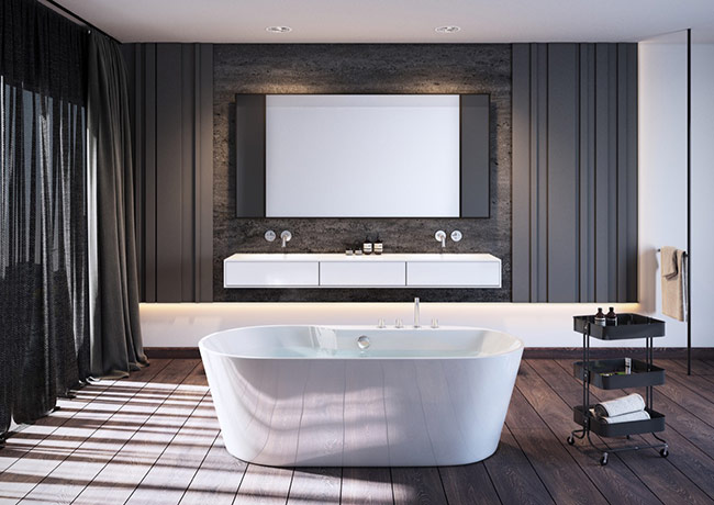 ý tưởng thiết kế xuyên suốt toàn bộ không gian ngôi nhà của bạn, mở rộng phong cách đến phòng tắm với những ý tưởng thiết kế đặc biệt.