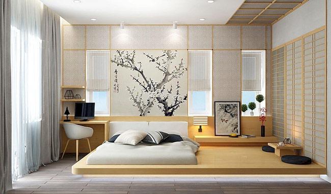 Thiết kế nội thất phòng ngủ nên tạo nhiệt độ thấp