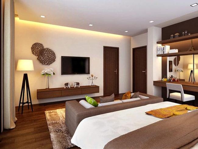 Khi thiết kế nội thất phòng ngủ cần chú ý tới việc thuận tiện để ra ngoài sinh hoạt hoặc đi vệ sinh.