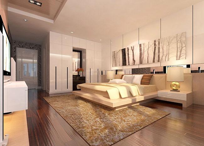 Vì khi đi ngủ nhu cầu đi vệ sinh là tất yếu. Tuy nhiên, thiết kế phòng ngủ gần phòng vệ sinh cần phải tránh được mùi hôi và ẩm ướt, theo đó cần đặt phòng ngủ ở đầu hướng gió.