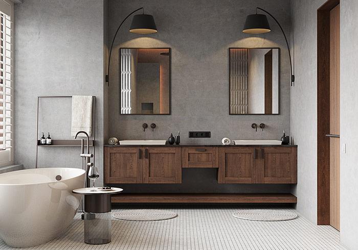 Phòng tắm được chăm chút đến từng chi tiết nhỏ nhất tạo nên gu thẩm mỹ thời thượng