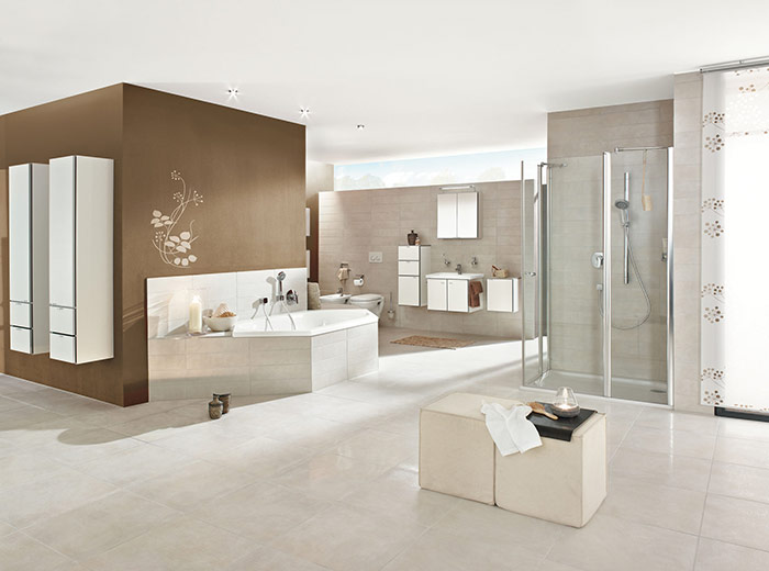 Rossi Arte với thiết kế hiện đại, điểm nhấn tạo nên không gian phòng tắm sang trọng