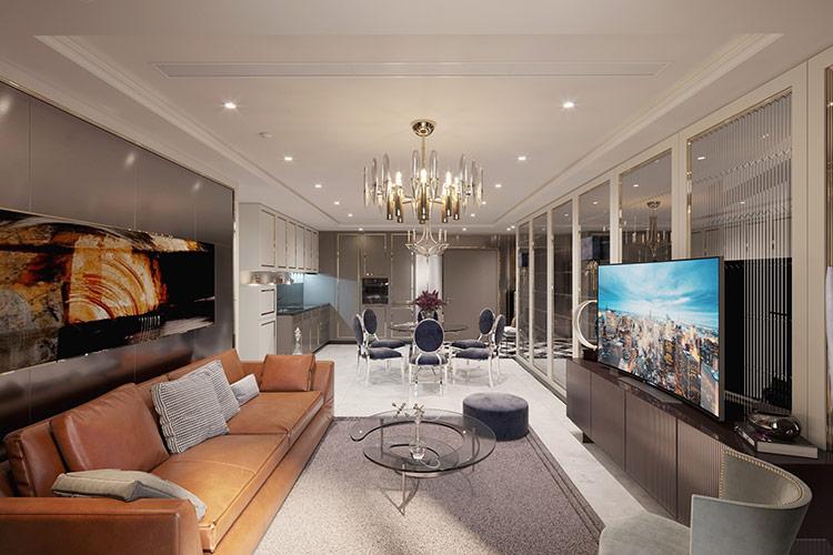 kết hợp hài hòa với thiết kế trong mỗi căn hộ giúp không gian sống thêm sang trọng, tinh tế.
