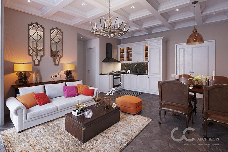 Những căn hộ theo phong cách Tây Ban Nha lãng mạn và đầy ấm cúng chính là chốn an cư lý tưởng của những chủ nhân sành điệu và giàu cảm xúc.