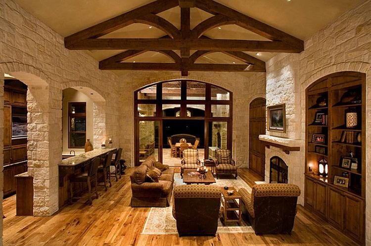 Thiết kế nội thất biệt thự theo phong cách Rustic