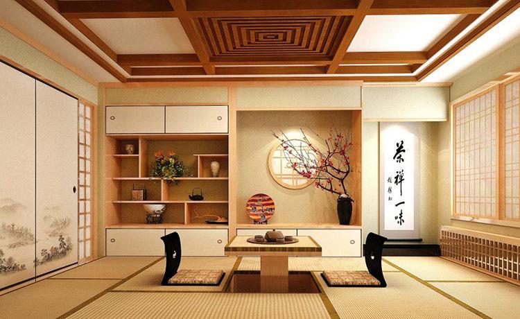 Phong cách thiết kế nội thất biệt thự kiểu Nhật Bản